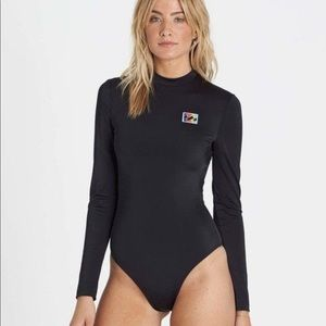 Billabong New Wave black long sleeve swim